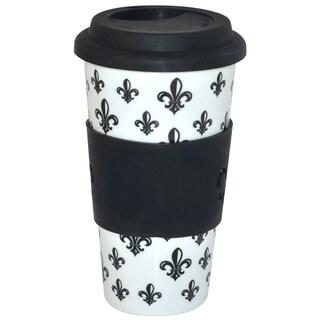 KitchenWorthy Ceramic Fleur De Lis Tumblers (Case of 24)