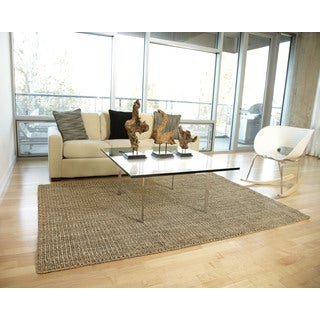 Handwoven Eternity Natural Jute Loop Rug (5' x 8')