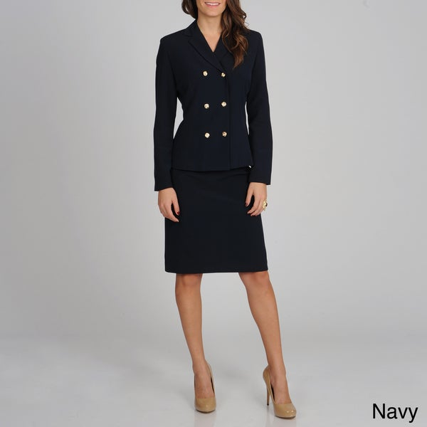 Atelier Women's Double Breasted Skirt Suit