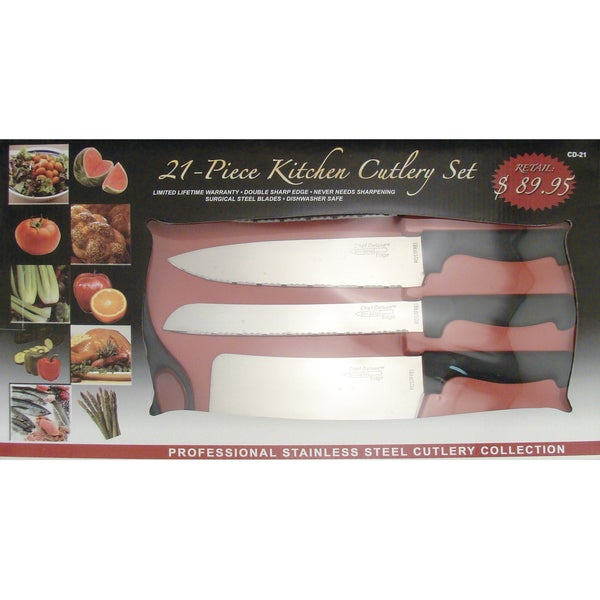 Chef Deluxe 21-Piece Kitchen Cutlery Set
