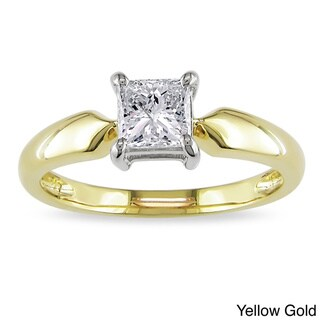 Miadora 14k Gold 3/4ct TDW Solitaire Engagement Diamond Ring (J-K, I2-I3)
