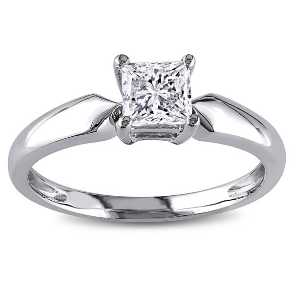 Miadora Signature Collection 14k Gold 3/4ct TDW Solitaire Diamond Ring (J-K, I2-I3)