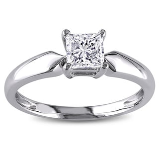 Miadora 14k Gold 3/4ct TDW Solitaire Diamond Ring (J-K, I2-I3)