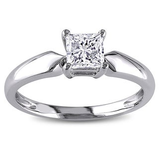 Miadora Signature Collection 14k Gold 3/4ct TDW Solitaire Engagement Diamond Ring (J-K, I2-I3)