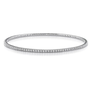Miadora 14k White Gold 2 1/4ct TDW Diamond Bangle (G-H, SI1-SI2)