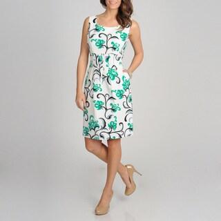 Women's Jade Floral Printed Pique Sundress