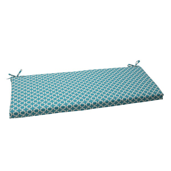 Pillow Perfect Outdoor Hockley Teal Bench Cushion