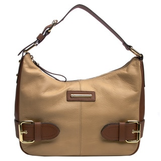Franco Sarto 'Jolie' Leather Color Block Hobo Bag