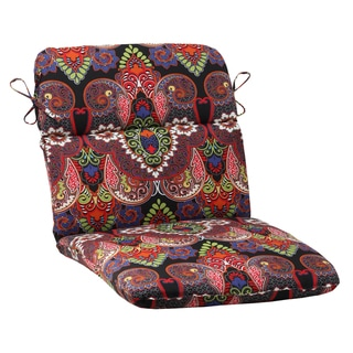 Pillow Perfect Outdoor Marapi Black Rounded Chair Cushion