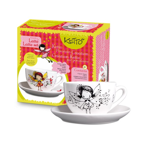 Ketto Fairy Theme 'Paint It Yourself' Latte Set