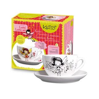 Ketto Fairy Theme 'Paint It Yourself' Latte Set
