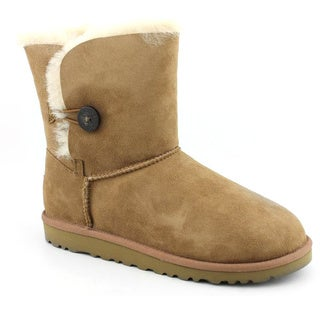 Ugg Australia Youth Girl's 'Bailey Button' Regular Suede Boots