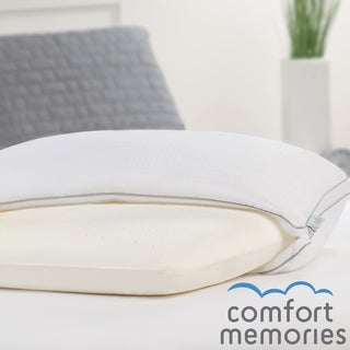 Comfort Memories Memory Foam and Fiber Jumbo-size Bed Pillow