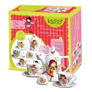 Paint It Yourself Fairy Theme Tea Set