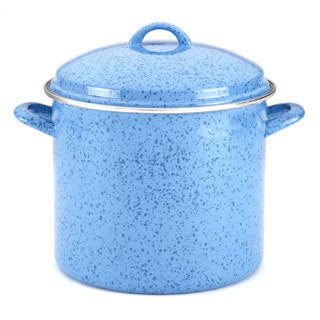Paula Deen Signature Enamel on Steel 12-Quart Blueberry Stockpot