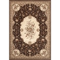 Traditional Brown Savonnerie Area Rug (7'10 x 10'2)