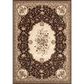 Traditional Brown Savonnerie Area Rug (2'7 x 7'10)