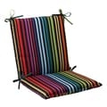 Pillow Perfect Black Outdoor Godivan Squared Chair Cushion