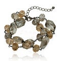 Riccova Black-plated Champagne and Bronze Crystal Bead 2-strand Bracelet