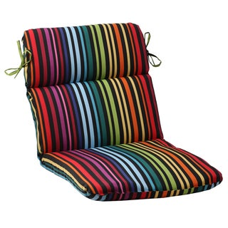 Pillow Perfect Black Outdoor Godivan Rounded Chair Cushion