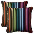 Pillow Perfect Black Outdoor Godivan Corded 18.5-inch Throw Pillow (Set of 2)