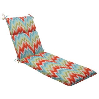 Pillow Perfect Opal Outdoor Flamestitch Chaise Lounge Cushion
