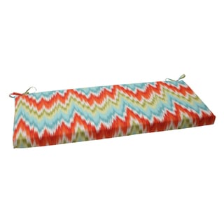 Pillow Perfect Opal Outdoor Flamestitch Bench Cushion
