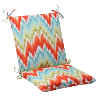 Pillow Perfect Opal Outdoor Flamestitch Squared Chair Cushion