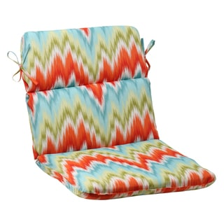 Pillow Perfect Opal Outdoor Flamestitch Rounded Chair Cushion