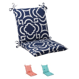 Pillow Perfect Navy Outdoor Carmody Squared Chair Cushion