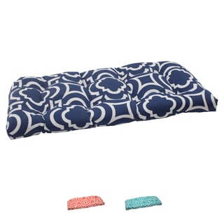 Pillow Perfect Outdoor Carmody Wicker Loveseat Cushion