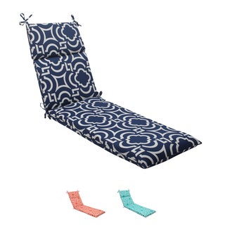Pillow Perfect Navy Outdoor Carmody Chaise Lounge Cushion