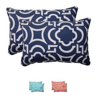 Pillow Perfect Outdoor Carmody Corded Oversized Rectangular Throw Pillows (Set of 2)