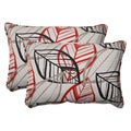 Pillow Perfect Black Outdoor Belize Corded Oversized Rectangular Throw Pillow (Set of 2)