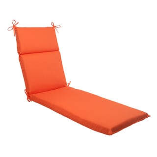 Pillow Perfect Outdoor Sundeck Chaise Lounge Cushion in Orange
