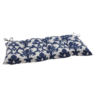 Pillow Perfect Bosco Polyester Navy Tufted Outdoor Loveseat Cushion