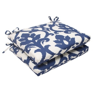 Pillow Perfect Navy Square Seat Cushions (Set of 2)