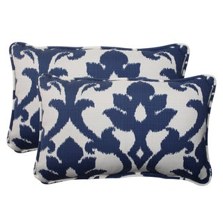 Pillow Perfect Navy Outdoor Throw Pillows (Set of 2)