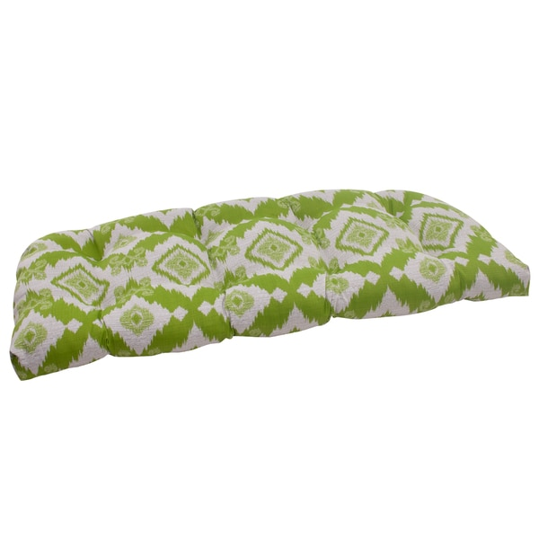 Pillow Perfect Lime Outdoor Loveseat Cushion