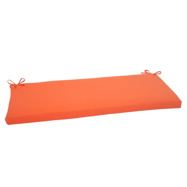 Pillow Perfect Orange Sundeck Bench Cushion