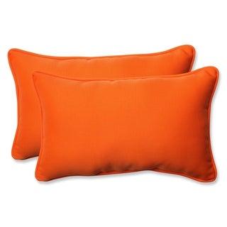 Pillow Perfect Orange Outdoor Throw Pillows (Set of 2)