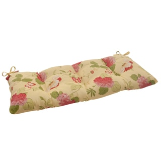 Pillow Perfect Lemonade Outdoor Loveseat Cushion