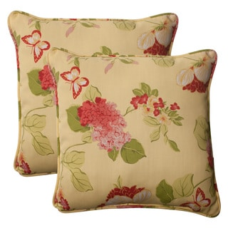 Pillow Perfect 'Risa' Lemonade Corded Indoor/ Outdoor Throw Pillows (Set of 2)