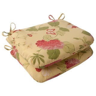 Pillow Perfect Lemonade Outdoor Seat Cushions (Set of 2)
