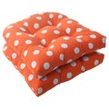 Pillow Perfect Orange Polka Dot Seat Cushions (Set of 2)