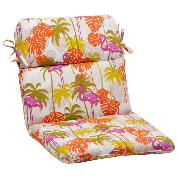 Pillow Perfect 'Plume' Rounded Indoor/ Outdoor Chair Cushion