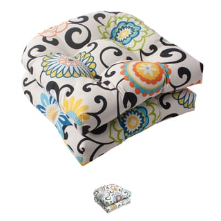 Waverly Sun-n-Shade &#39;Lagoon&#39; Tufted Seat Cushions (Set of 2)