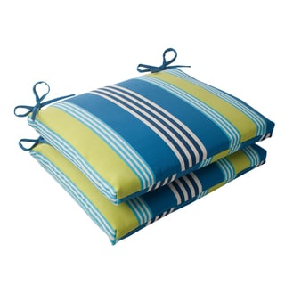 Waverly Sun-n-Shade Oncore Lagoon Squared Seat Cushions (Set of 2)