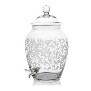 Fifth Avenue Crystal Grahamsville Glass Beverage Dispenser