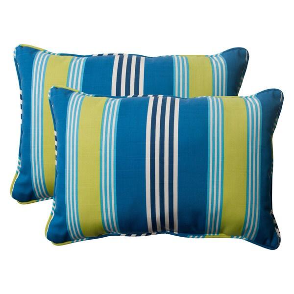 'Oncore' Lagoon Oversized Rectangular Throw Pillows (Set of 2)
